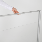 4mm thick acrylic hygiene screen with adjustable gap