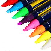 Fluorescent chalk pen nibs
