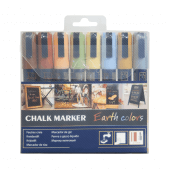 Earth Colours Liquid Chalk Pen Packs with 8 pens