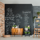 Blackboard paint can create a stunning canvas within homes and businesses