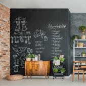 Blackboard Paint can create a stunning chalkboard wall canvas