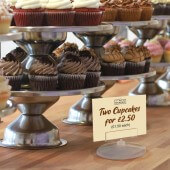 Counter standing ticket holder ideal for bakeries and delis