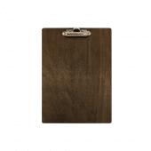 A5 Wooden Menu Clipboard Dark Stain