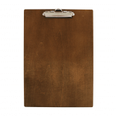 A4 Wooden Menu Clipboard with Dark Stain finish