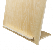 Wooden poster holder with bulldog clip