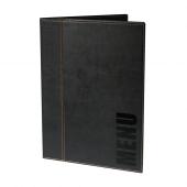 Black faux leather menu covers UK