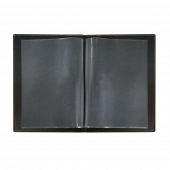 Features clear plastic A4 inserts to hold your drinks menu