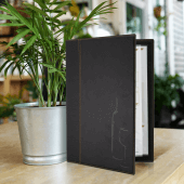Contemporary Faux Leather Wine List Cover