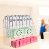 Countertop acrylic display stand