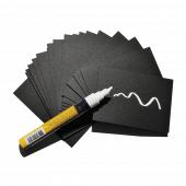 Mini chalkboard paper sheets x 20 with pen