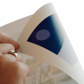 Use double sided sticky dots to display signs and posters