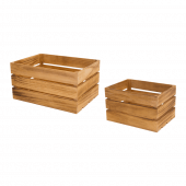Wooden Display Crate with a light oak finish and a choice of 2 sizes