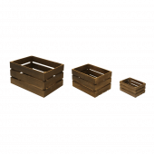 Wooden crates without chalkboards