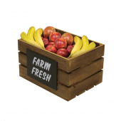 Display fresh produce in a rustic, appealing manner