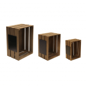 Crates comes in a choice of three sizes
