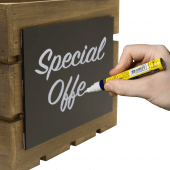 Use chalk pens to create eye-catching messages and displays