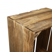 Wooden Display Crate in dark oak