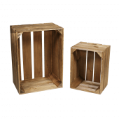 Wooden Display Crates with a dark oak stain