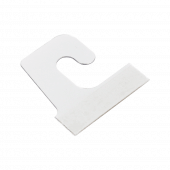 Adhesive hang tabs for use with merchandising hooks