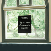 Chalkboard Window Display with Suction Cups