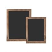 Chalkboard with Dark Wood Frame
