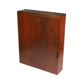 Wooden Suggestion Box with Poster Holder Mahogany