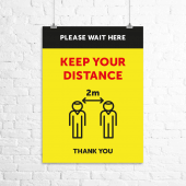 'Keep your distance' social distancing poster