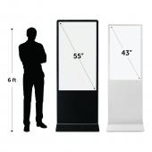 Digital display totem height