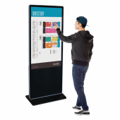Touchscreen Digital Display Totem with optional wheels and branding