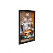 Wall mounted digital advertising screen