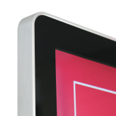 Digital display HD LCD screen with rounded corners and LED backlight