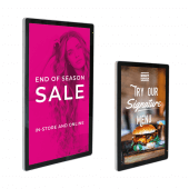 Wall mounted digital poster display available in 2 sizes