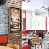 Wall mounted digital screen advertising