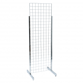 Heavy Duty Double Sided Gridwall Display Stands in Chrome