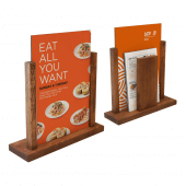 Wooden menu holders for restaurants