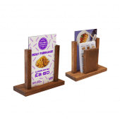Table menu holders for cafes, restaurants, pubs and bars