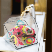 Countertop retail display bins