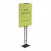 The poster display stand is available with printed Foamex boards