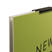 This Adjustable Double Sided Poster Display Stand holds two boards