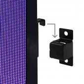 Hang the indoor LED poster screen using the bracket provided