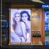 The indoor LED poster screen is perfect for window displays