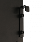 Digital LED posters can be wall mounted using the fixings provided