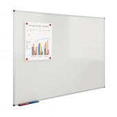 Wall mounted dry wipe board, ideal for schools and offices