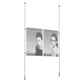Acrylic Double Poster Holder