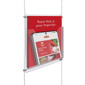 Add an A4 leaflet holder to your cable and rod displays