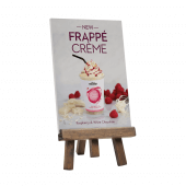 Easel menu moard with printed foamex