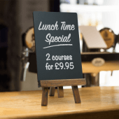 Tabletop Wooden Chalkboard Easel Menu Board