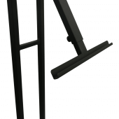 This Metal Easel Display Stand has a stylish black finish