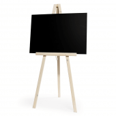 White Easel with Plain Chalkboard