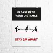 'Ministry of Silly Walks' social distancing poster